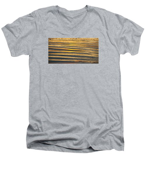 Golden Sand On Beach Men's V-Neck T-Shirt