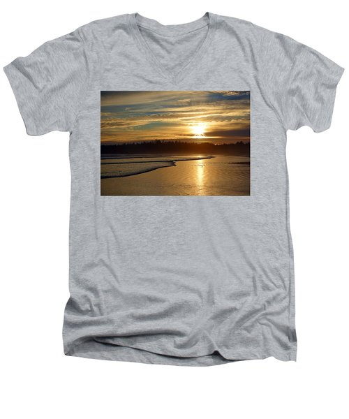 Long Beach, British Columbia Men's V-Neck T-Shirt by Heather Vopni