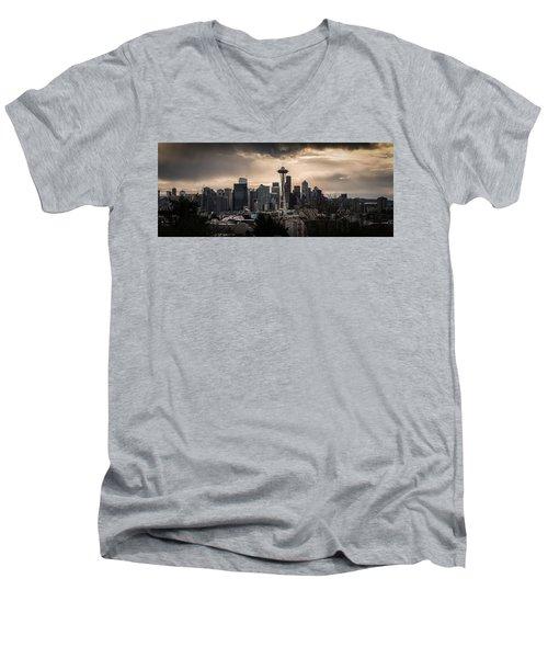 Golden Sky Seattle Men's V-Neck T-Shirt