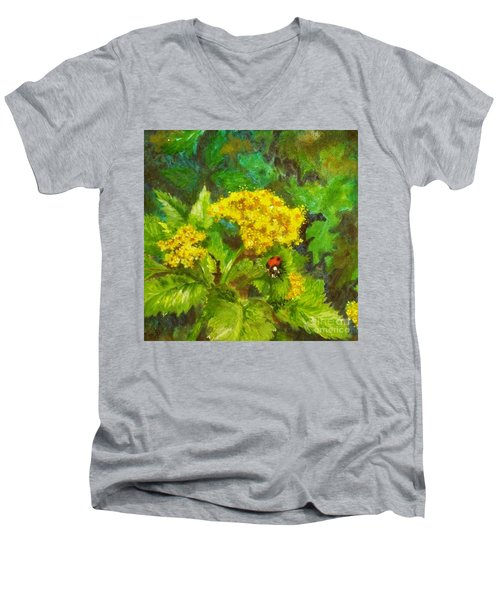 Golden Summer Blooms Men's V-Neck T-Shirt