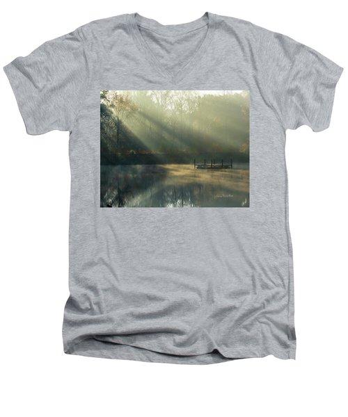 Golden Sun Rays Men's V-Neck T-Shirt