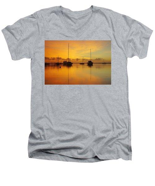 Golden Sunrise At Boreen Point Men's V-Neck T-Shirt