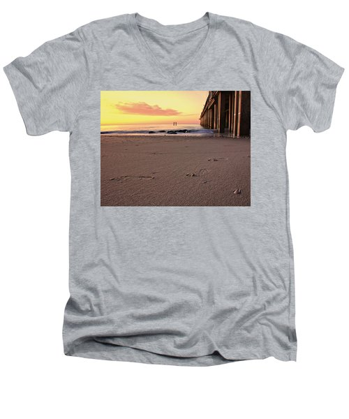 Golden Sunrise  Men's V-Neck T-Shirt