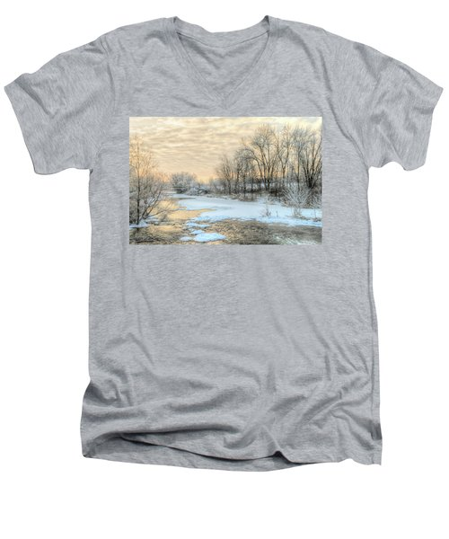 Golden Sunrise Signed Men's V-Neck T-Shirt