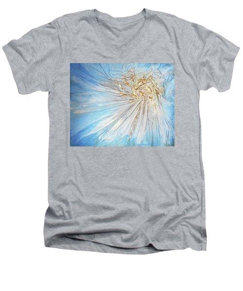 Golden Sunshine Men's V-Neck T-Shirt by Angela Stout