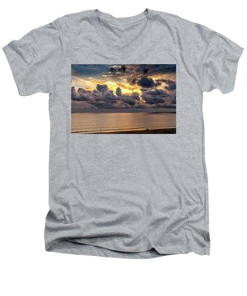 Golden Surf - Point Dume, California Men's V-Neck T-Shirt
