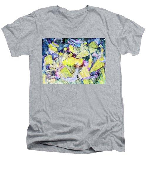 Golden Swirls Men's V-Neck T-Shirt