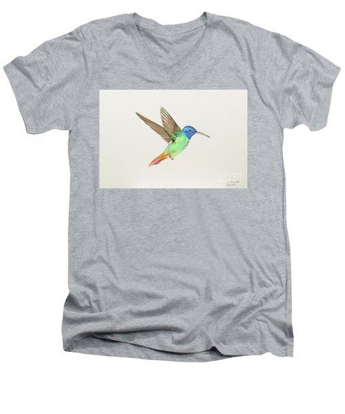 Golden-tailed Sapphire Men's V-Neck T-Shirt