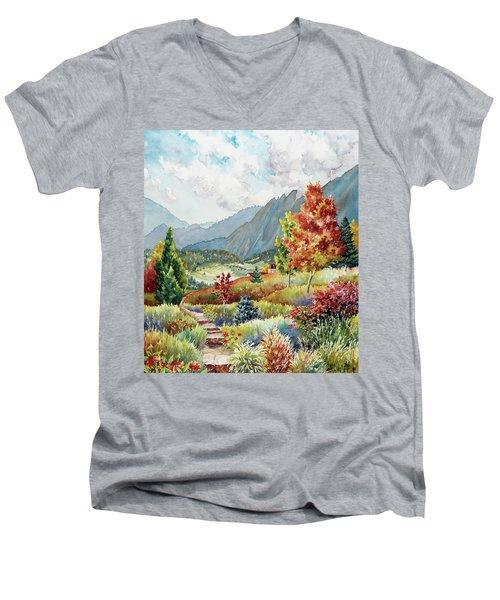 Golden Trail Men's V-Neck T-Shirt