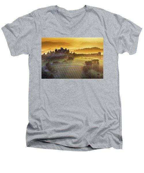 Golden Tuscany Men's V-Neck T-Shirt