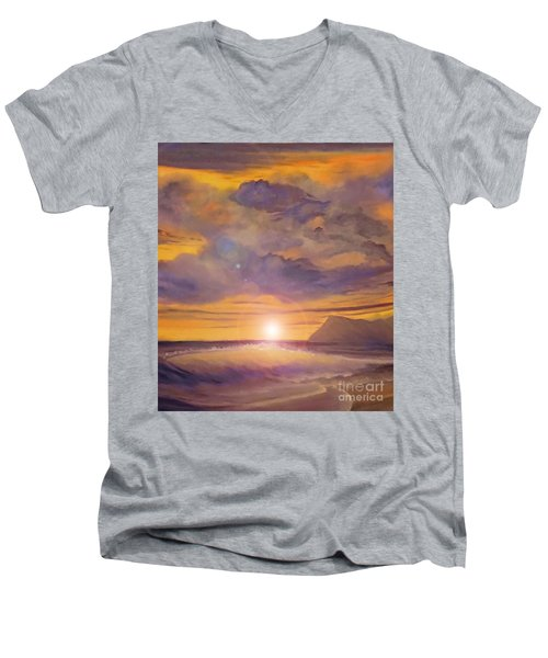 Golden Wave Men's V-Neck T-Shirt