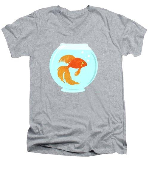 Goldfish Fishbowl Men's V-Neck T-Shirt