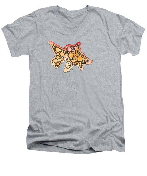 Goldfish Men's V-Neck T-Shirt by Petra Stephens