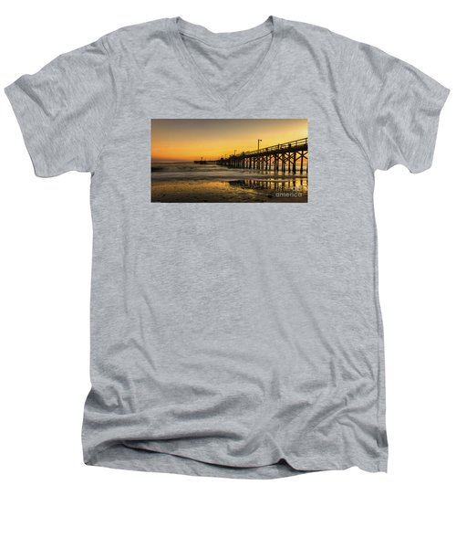 Goleta Sunset Men's V-Neck T-Shirt