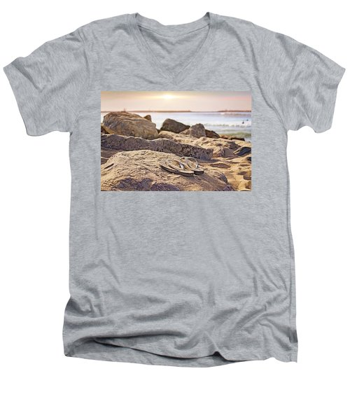 Gone Surfin' Men's V-Neck T-Shirt
