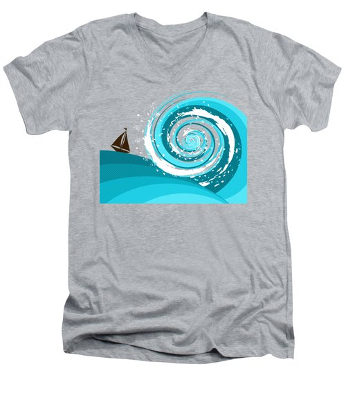 Gonna Need A Bigger Boat Men's V-Neck T-Shirt by Shawna Rowe