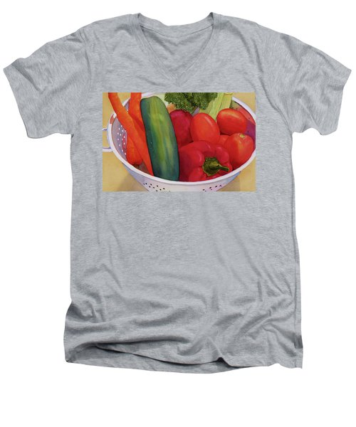 Good Eats Men's V-Neck T-Shirt by Judy Mercer