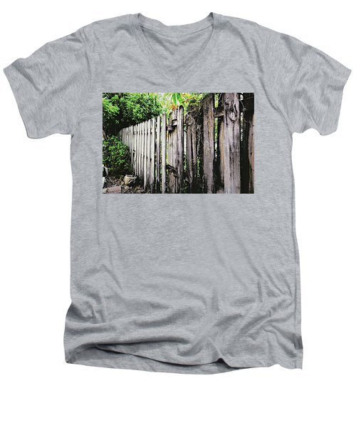 Good Fences, Good Neighbors Men's V-Neck T-Shirt
