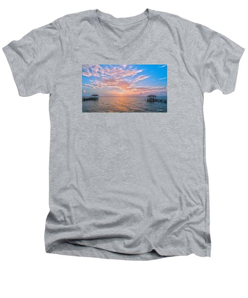 Good Morning Aransas Bay Men's V-Neck T-Shirt