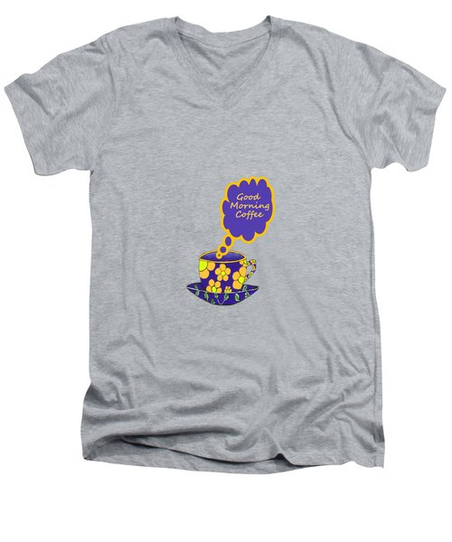 Good Morning Coffee Men's V-Neck T-Shirt