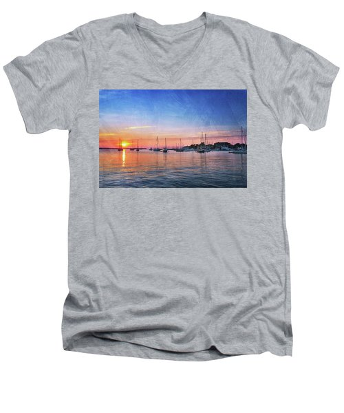 Good Morning Men's V-Neck T-Shirt by Edward Kreis