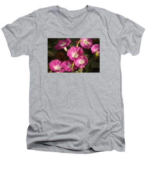 Men's V-Neck T-Shirt featuring the photograph Good Morning, Glory by Sheila Brown
