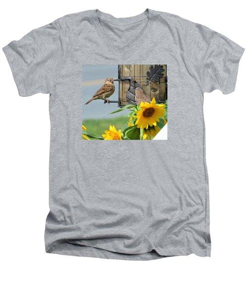 Good Morning Men's V-Neck T-Shirt by Jeanette Oberholtzer