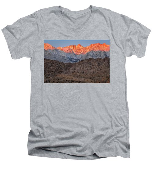 Good Morning Mount Whitney Men's V-Neck T-Shirt
