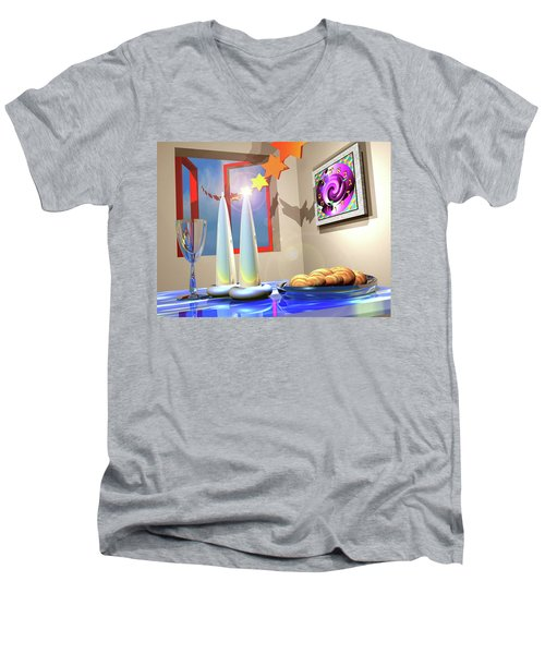 Good Shabbos Men's V-Neck T-Shirt