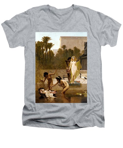 Goodall Frederik The Finding Of Moses Men's V-Neck T-Shirt by Frederick Goodall