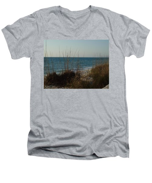 Men's V-Neck T-Shirt featuring the photograph Goodbye Cruel World by Robert Margetts