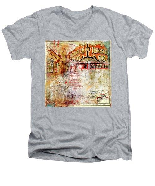 Goodbye Honest Eds II Men's V-Neck T-Shirt by Nicky Jameson