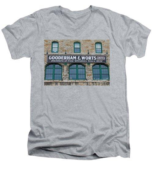Gooderham And Worts Distillery Men's V-Neck T-Shirt