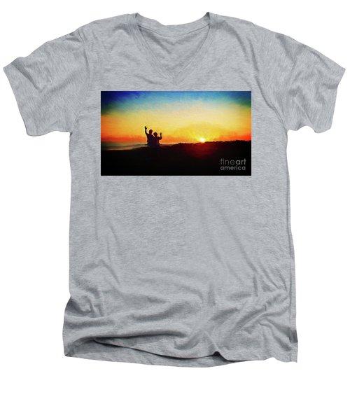 Goodnight Mr. Sun  Men's V-Neck T-Shirt