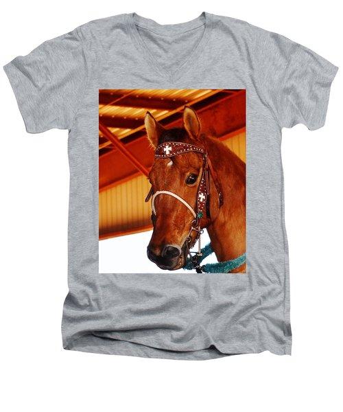 Gorgeous Horse And Bridle Men's V-Neck T-Shirt