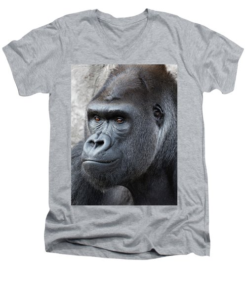 Gorillas In The Mist Men's V-Neck T-Shirt