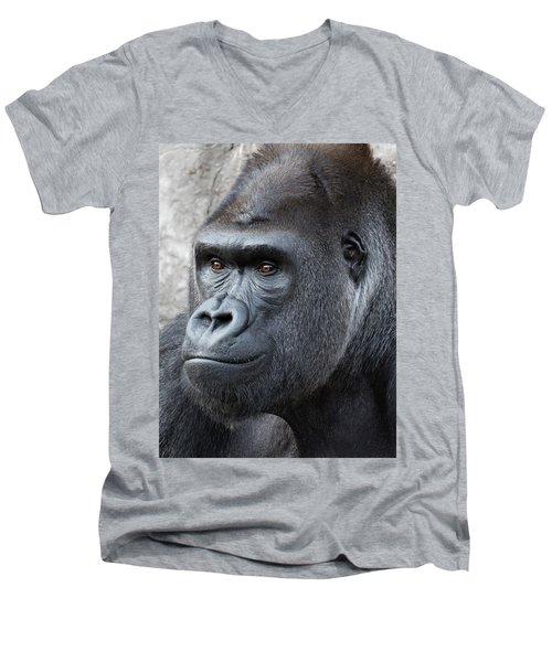 Gorillas In The Mist Men's V-Neck T-Shirt