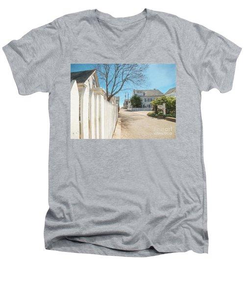 Gosnold St. Provincetown Men's V-Neck T-Shirt