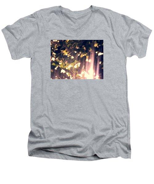 Gossamer Glow Men's V-Neck T-Shirt by Megan Dirsa-DuBois