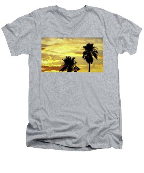 Got To Love Monsoons Men's V-Neck T-Shirt