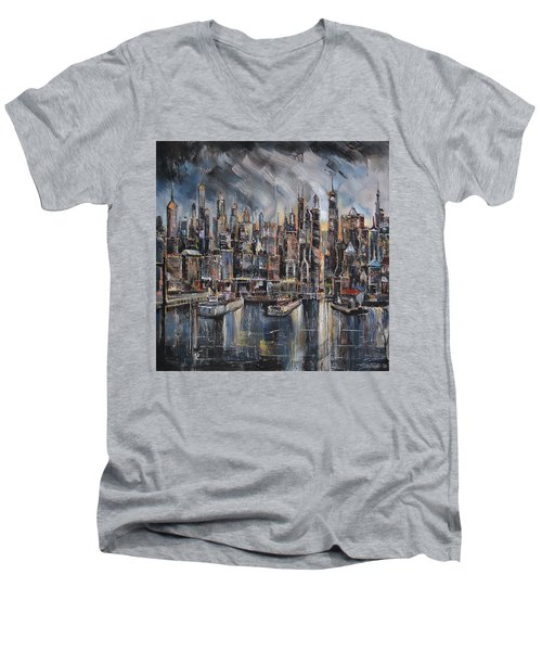 Gotham City Men's V-Neck T-Shirt