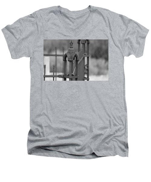 Gothic Ornamental Fence In Boothill Men's V-Neck T-Shirt