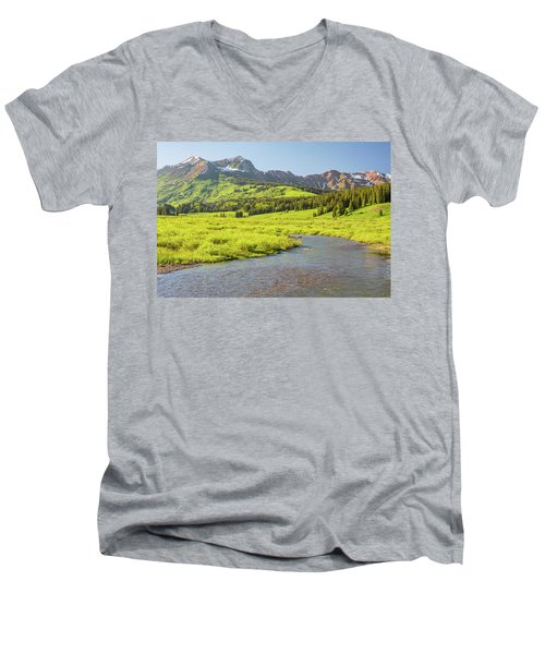 Gothic Valley - Early Evening Men's V-Neck T-Shirt