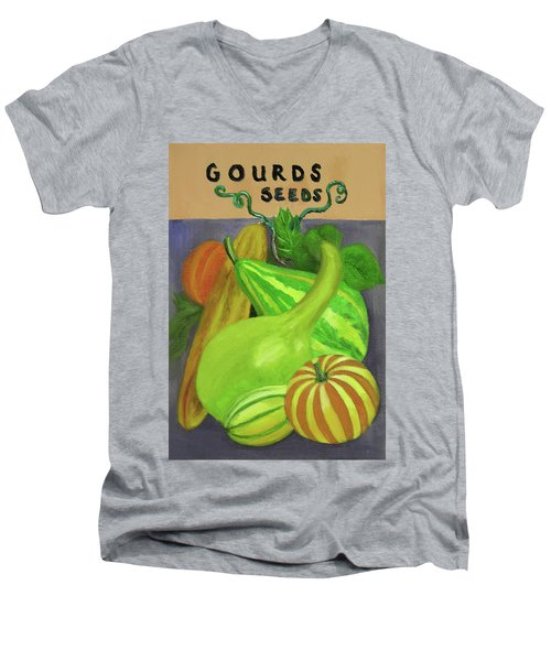 Gourd Purple Men's V-Neck T-Shirt