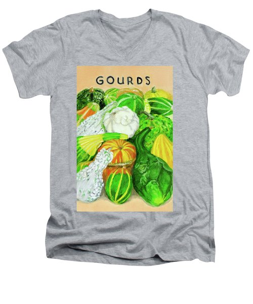 Gourd Seed Packet Men's V-Neck T-Shirt