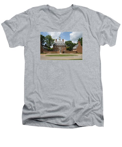 Governers Palace - Williamsburg Va Men's V-Neck T-Shirt by Christiane Schulze Art And Photography