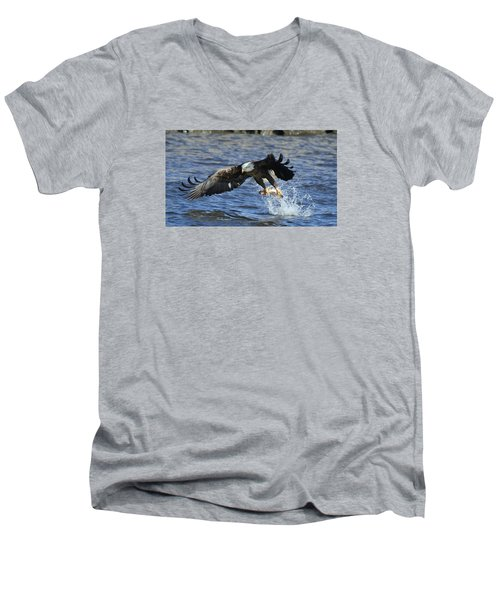 Men's V-Neck T-Shirt featuring the photograph Grabbing Some Dinner by Coby Cooper