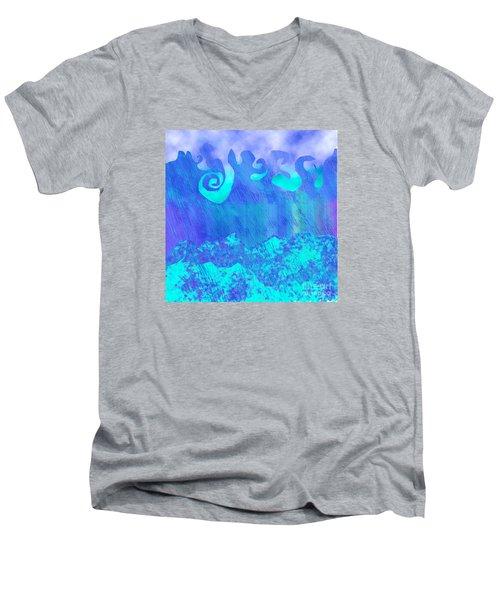 Grace Of Rain Men's V-Neck T-Shirt