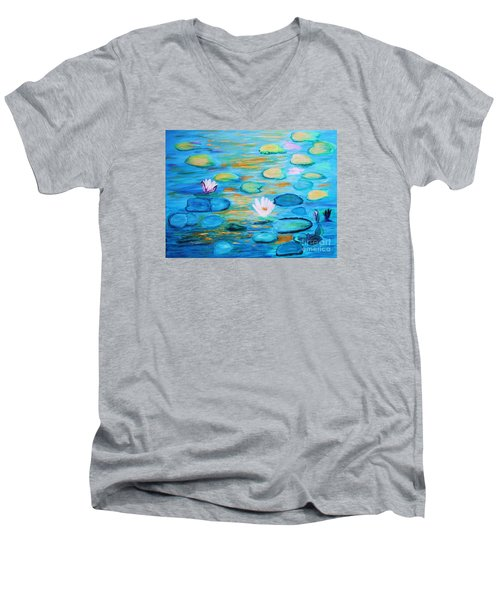 Graceful Pond From The Water Series Men's V-Neck T-Shirt