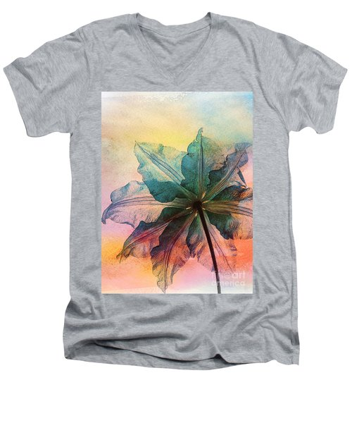 Men's V-Neck T-Shirt featuring the digital art Gracefulness by Klara Acel